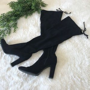 Unisa Over the Knee Black Suede Boots Size 10